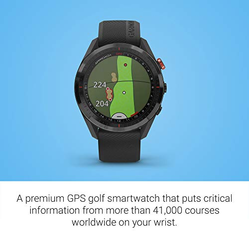 Garmin Approach S62 Bundle, Premium Golf GPS Watch with 3 CT10 Club Tracking Sensors, Built-in Virtual Caddie, Mapping and Full Color Screen, Black