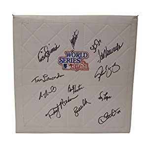 1981 Los Angeles Dodgers Team Autographed Signed 1981 World Series Baseball Base with Proof Photos of Signing and COA, Fernando Valenzuela, Tommy Lasorda, Bob Welch, Dave Stewart, Steve Yeager