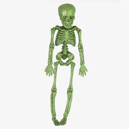 Glitter Skeleton (Halloween Green Glitter Skeleton 11.5
