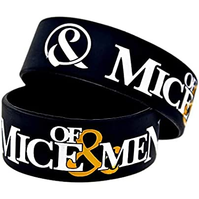 Sxuefang Silicone Wristbands With Sayings Of Mice amp Men Band Rubber Wristbands For Men Set Pieces Estimated Price £29.99 -