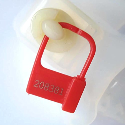 Keyholder 10 Pack Numbered Plastic Chastity Locks (Red)