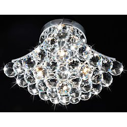 Otis Designs 4-Light Chrome and Crystal Flushmount Chandelier