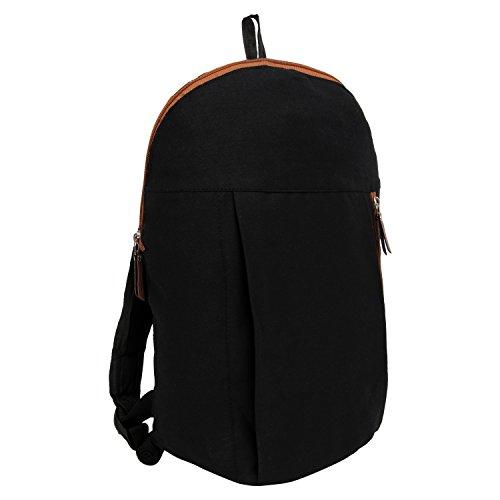 Snoogg - Bolso mochila  para mujer Negro negro