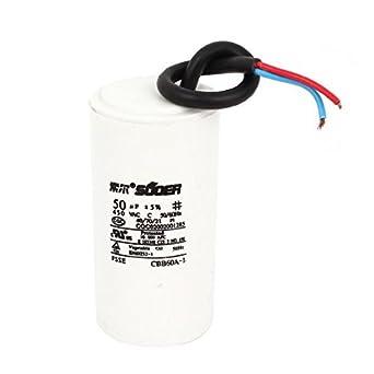 AC 450V 50uF conexión de cable Lavadora electrolítico condensador ...