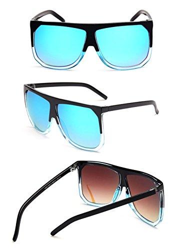 De Plástico Gafas Gafas Marco Mm Aviador Lente Ancho De Unisex 63 Libre Mujer Retro La Hombre Prueba Gafas Irregulares De Viento Grande Aire Conducción Al Sol Cuadrado A Iceblue De Transparen De Bicicleta Sol wqwAT