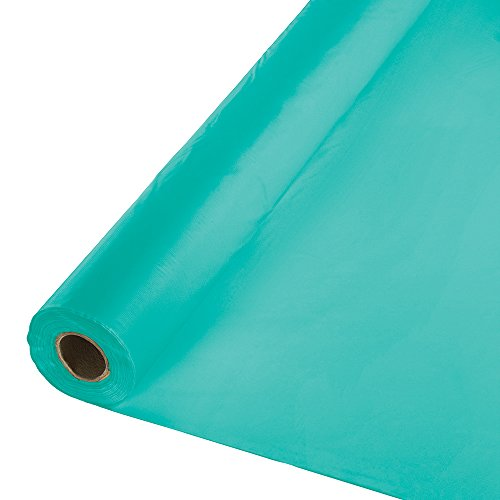 Touch of Color Plastic Tablecover Banquet Roll, 100-Feet, Teal Lagoon (Decorations Roll Party)