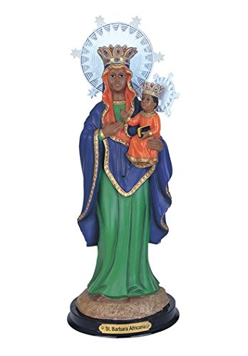 GC 12 Inch Saint St Barbara Africana Santa Statue Figurine Figure Religious Decor