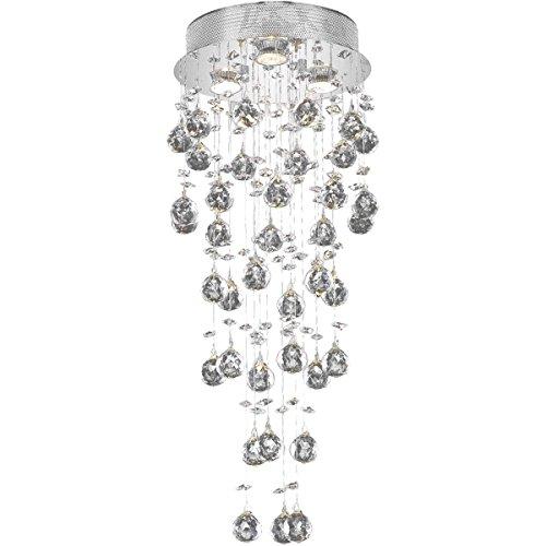 Elegant Lighting 2006F12C/EC Galaxy Collection 3-Light Chrome Fix with Clear Cut Crystal Ec Galaxy Ceiling Pendant