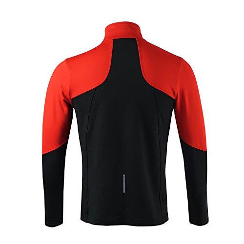 De Léger Tour Vent Elastique Veste Couleur Vélo le Running Respirant Rouge Double Poitrine Cyclisme Homme Tofern La 100cm S Coupe Randonnée TCw8CEq