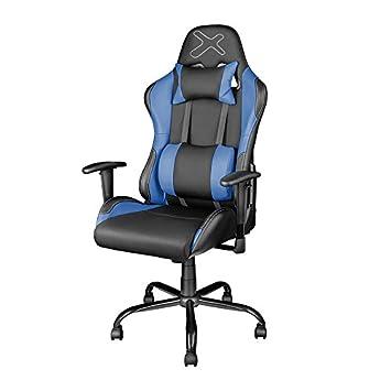 Silla Gaming Phoenix Ajustable en Altura, reclinable 90º con reposabrazos y cojín Lumbar y Cervical