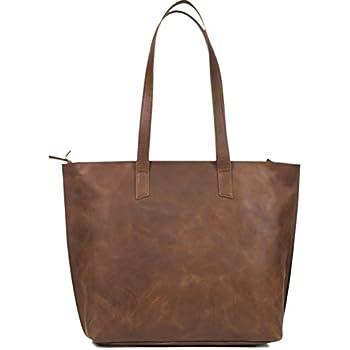 Women s Genuine Vintage Full Grain Thick Buffalo Leather Tote Bag Purse -  Best Quality Shoulder Travel Handbag - The Aartisan fd850961e19ca