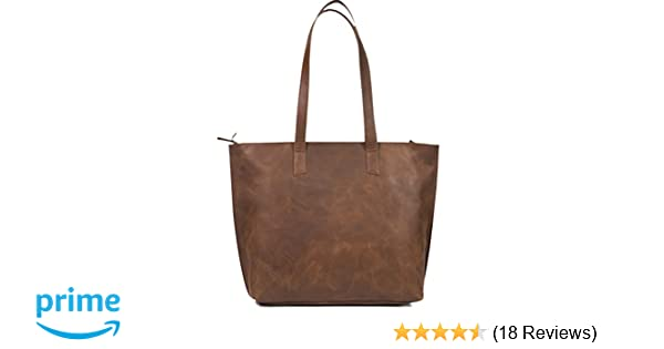 fabe001d5740 Amazon.com  Women s Genuine Vintage Full Grain Thick Buffalo Leather Tote  Bag Purse - Best Quality Shoulder Travel Handbag - The Aartisan  Shoes