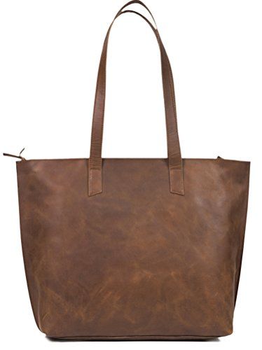 Women's Genuine Full Grain Thick Buffalo Vintage Leather Tote Bag Purse - Best Quality Shoulder Travel Handbag - The Aartisan