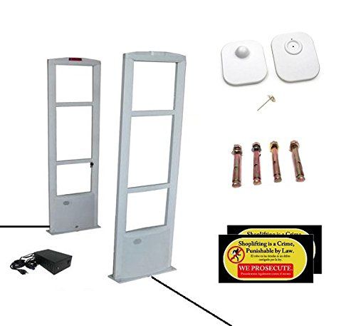 Starter Pack - EAS RF Anti Theft Retail Store Security Antenna System + 1000 Tags and Warning Stickers by Easmartech