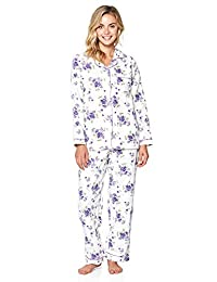 Casual Nights Women's Sleepwear Flannel Long Sleeve Pajama Set