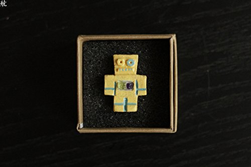 TKHNE Gem Heart small robot brooch pin badge 06