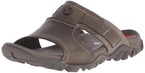 Merrell Men's Telluride Thong Sandal, Stucco, 10 M US (Telluride Leather)