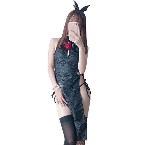 (YOMORIO Womens Sexy Chinese Cheongsam Costumes Lolita Naughty Devil Cosplay Lingerie)