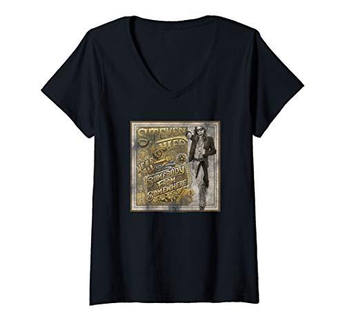 Steven Tyler Shirt (Womens Steven Tyler Somebody from Somewhere V-Neck)