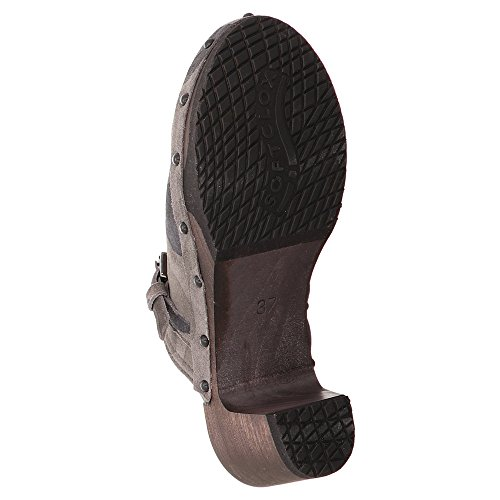 Black 13 6 S3266 Uk Size Clogs Grey Women's Softclox fPqC4Z