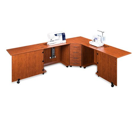 Sylvia Design Model 1810 Sewing Center, for large machines (Sunset Cherry)