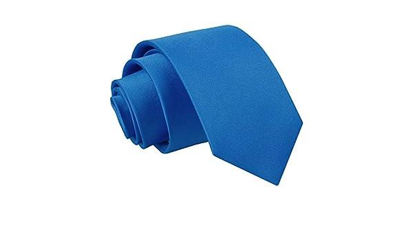 SSS(dqt) - Corbata - para hombre Azul azul eléctrico Talla única