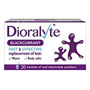Dioralyte Rehydration Supplement Electrolytes Replacement of Lost Body Water and Salts, Blackcurrant Flavour, 20 Sachets…