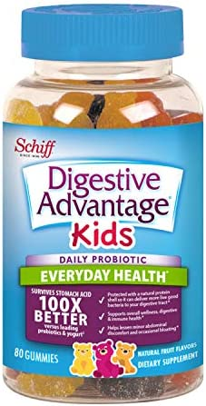 Digestive Advantage Daily Probiotic Gummy For Kids, 80 Count (Pack Of 1), Multi