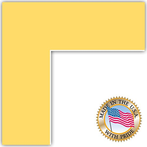 7x14 Canary Custom Mat for Picture Frame with 3x10 opening -