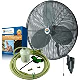 Misting Fans - 24 Oscillating Patio Mist Cooling Fan Cool-Off