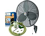 Misting Fans - 24'' Oscillating Patio Mist Cooling Fan Cool-Off