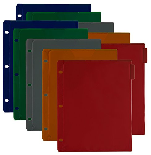"Five Star Dividers, 5-Tab Set, Flex NoteProtector, 11-1/2"" x 9-3/4"", Assorted Colors, 2 Pack (38066)"