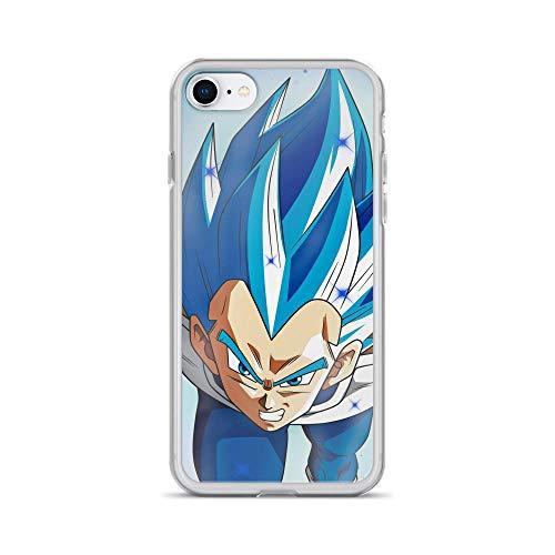 iPhone 7/8 Pure Clear Anti-Shock Case Japanese Comic Manga Vegita SSJ Blue Full Pawer Anime Japan Kawaii]()