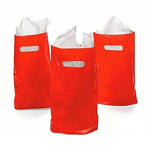 Rhode Island Novelty Red Plastic Bags 50 Count - Plastic Goody Bags