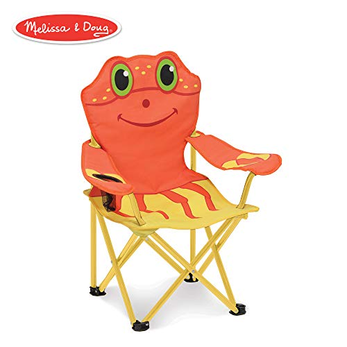 Melissa & Doug Sunny Patch Clicker Crab Folding Beach Chair for Kids ()