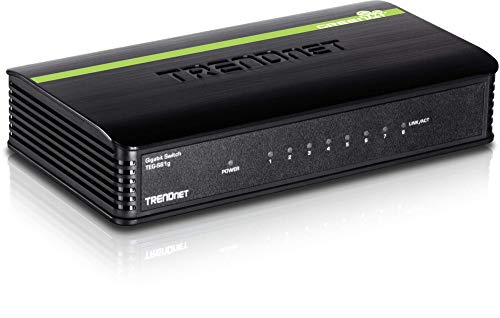 TRENDnet 8-Port Unmanaged Gigabit GREENnet Desktop Switch, 16 Gbps Switching Fabric, ()