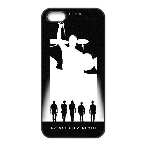 Avenged Sevenfold coque iPhone 5 5S Housse téléphone Noir de couverture de cas coque EBDOBCKCO12620