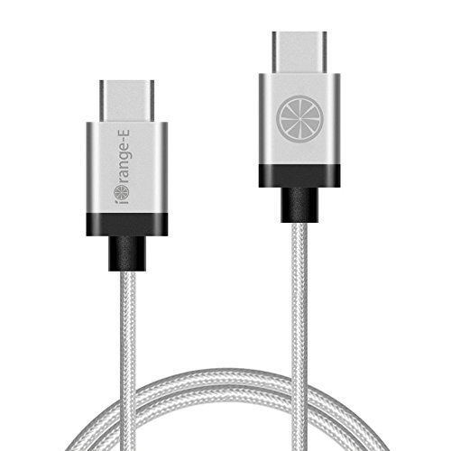 USB-C-iOrange-E-USB-C-to-C-66ft-2M-Braided-Cable-for-Nexus-5X-Nexus-6P-Chromebook-Pixel-OnePlus-2-Lumia-950-Lumia-950XL-ZUK-Z1-and-Other-USB-Type-C-Supported-Devices-Silver