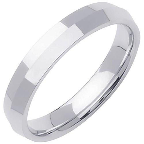 Platinum Traditional Knife Edge Men's Comfort Fit Wedding Band (4mm) Size-9c1 Platinum Knife Edge