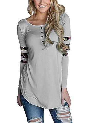 AlvaQ Women Spring Juniors Long Sleeve Tshirt Plus Size Clothing Ladies Tunic Tops Yellow (Fashion Ladies Long Sleeve)