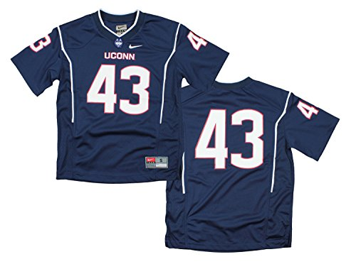Nike NCAA Big Boys Youth UConn Connecticut Huskies #43 Replica Football Jersey, Navy ()