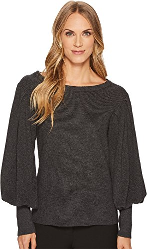 Vince Camuto Womens Bubble Drama Sleeve Crew Neck Sweater Medium Heather Grey XS One ()