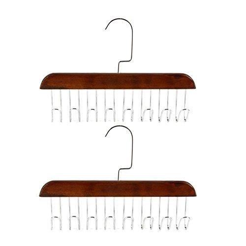 LIANGJUN Scarves Hangers Clothes Hooks Solid Wood Multifunct