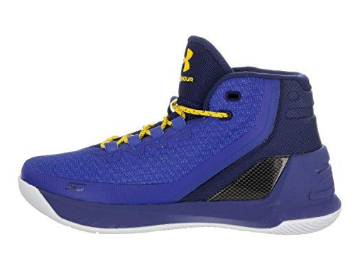 Under Armour GS Curry 3 Synthetik BasketballSchuh Blau
