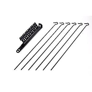 STENDIBIANCHERIA per STUFA NERO ,adatto per tubi stufa pellet e normali regolabile da cm. 8 a cm. 13 SB063 B N di… 2 spesavip