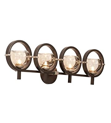 Kalco 6304OB-1 Lunaire 4-Light Wall Bracket, Old Bronze Finish
