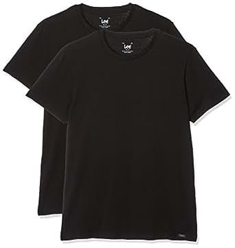Lee T-Shirt for Men, Set of 2 - Black S (L680AI)
