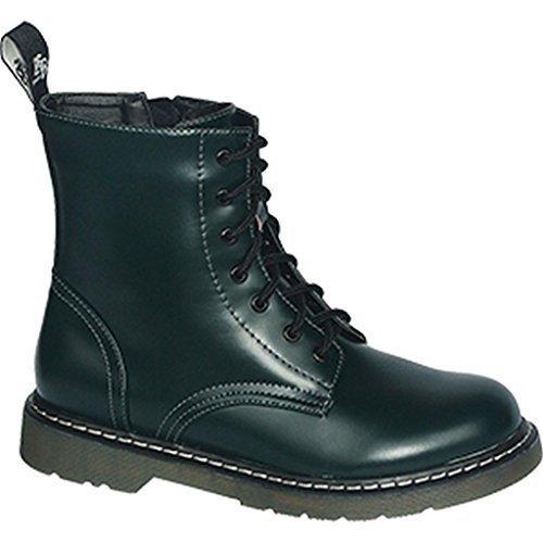 Knightsbridge 7 Loch Stiefel Dark Creationz Springertstiefel UK Gothic Boots verschiedene Farben 37-46 Bottle-Green