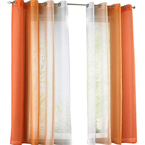 Urijk Semi Sheer Grommet Ombre Curtains, Set of 2, 55