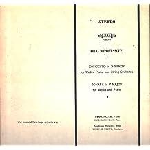Pierluigi Urbini / Franco Gulli / Enrica Cavallo: Mendelssohn Concerto In D Minor / Sonata In F Major LP VG++/NM